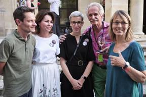 Sam Stourdzé (Rencontres d'Arles), Florence Reckinger (Lët'z Arles), Sam Tanson (ministre de la Culture), Charly Sieja et Françoise Nyssen (ancienne ministre de la Culture en France) ((Photo: Romain Girtgen / CNA))