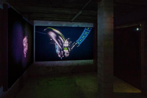 Vue de l'installation Macrostructure dans les caves du Casino Luxembourg. (Photo: Eric Chenal)