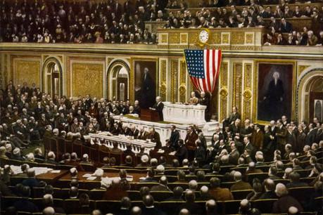 Il y a 100 ans, le président américain Woodrow Wilson avait convaincu le Congrès de sortir le pays de son isolationnisme pour mettre un terme à la guerre en Europe. (Photo: Licence C.C.)