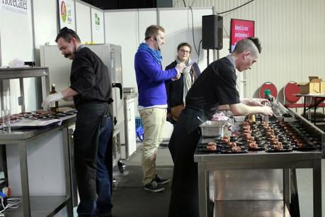 Les démonstrations de jeunes talents ou de chefs confirmés sont une des attractions du salon Horecatel. (Photo: Horecatel)