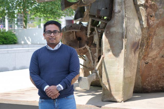 Pour Fakrul Patwary, l'Université sait innover: la Clinique de droit de la consommation en est la preuve. (Photo: Université du Luxembourg)