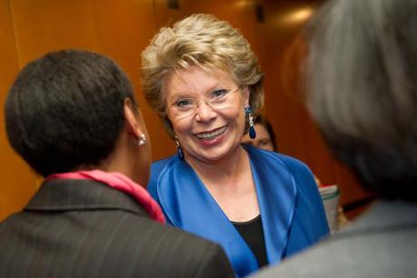 Viviane Reding: «Nous ne sommes qu'au début d'une évolution plus profonde.» (Photo: paperJam / Archives)
