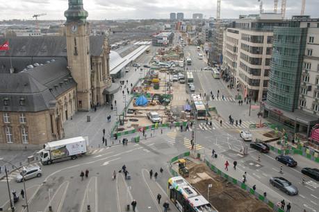 Une fois le tram arrivé, des citoyens demandent que la place soit aménagée pour devenir une seconde zone piétonne en centre-ville. (Phoro: Matic Zorman/Maison Moderne/archives)