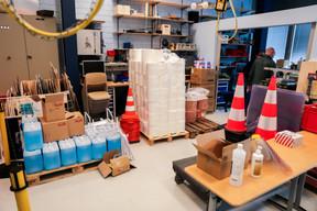 Le stock de matériel de protection est constitué. ((Photo: Romain Gamba / Maison Moderne))