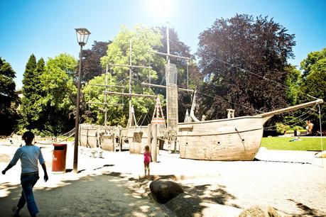 Le bateau pirate du parc Monterey pourrait voir revenir ses matelots dans les prochaines semaines. (Photo: David Laurent/Ville de Luxembourg)