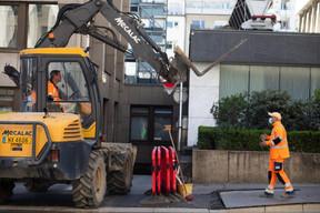 Chantier devant le Royal-Hamilius. ((Photo: Matic Zorman / Maison Moderne))