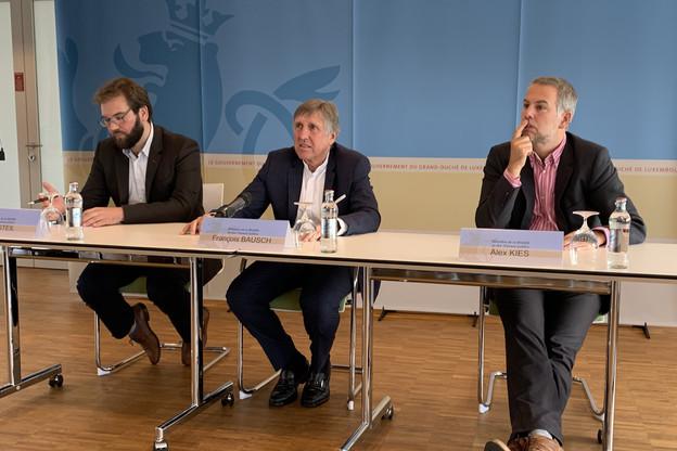 Le ministre Bausch a présenté le nouveau réseau RGTR ce mercredi. (Photo: Paperjam)
