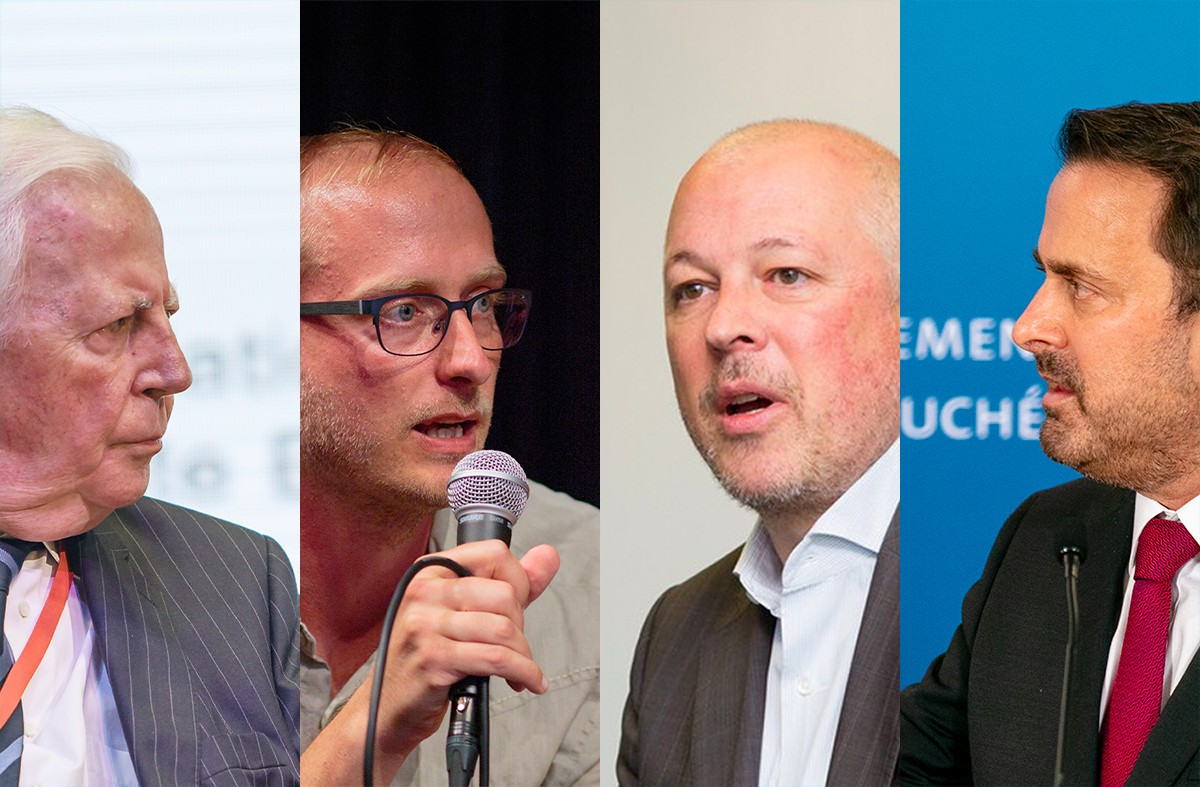 Jacques Santer, Jean-Claude Franck, Marc Gerges et Xavier Bettel. Pour le Luxembourg, la modernisation des institutions publiques est tout autant une question de stratégie d'investissement responsable que de volonté d'offrir un excellent service public. (Montage: Maison Moderne)