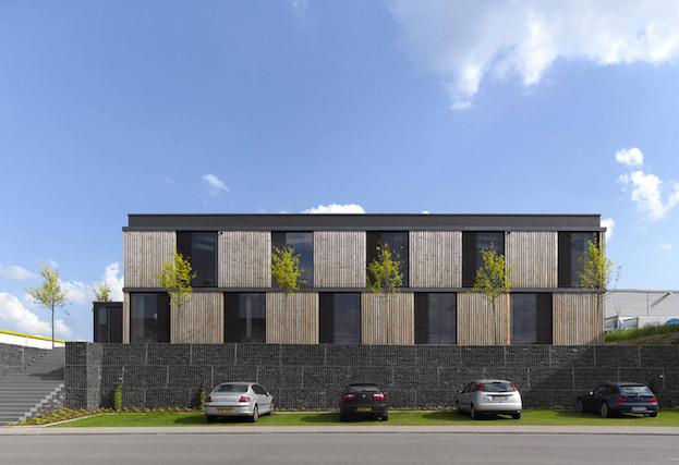 Le lauréat du concours pour le nouveau Parc des exposition et la gare périphérique Kirchberg est SteinmetzDeMeyer architectes urbanistes. (Photo:SteinmetzDeMeyer)