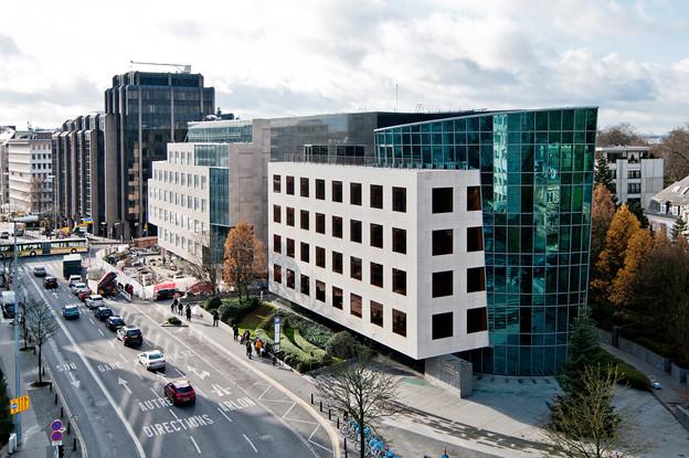 Banque de Luxembourg, dont le bâtiment principal est situé boulevard Royal, explique les mesures prises pour le retour au bureau de ses quelque 962 employés. (Photo: Andres Lejona/archives Maison Moderne)