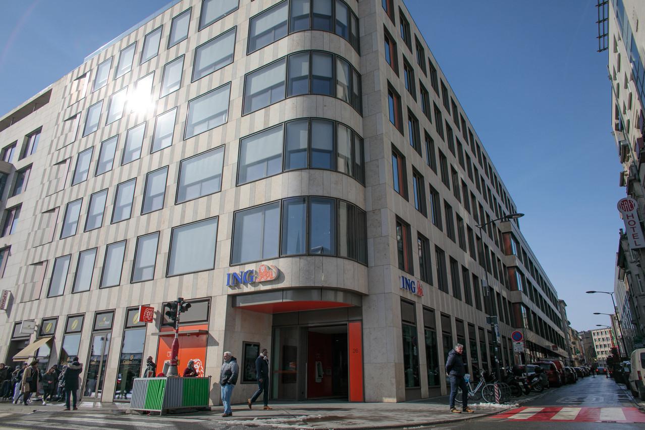 ING Luxembourg, dont le bâtiment principal est situé en face de la gare, explique les mesures prises pour le retour au bureau de ses quelque 850 employés. (Photo: Matic Zorman / Archives)