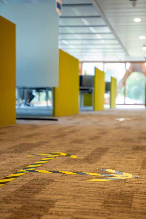 KPMG a prévu une circulation à sens unique dans tout le bâtiment. (Photo: KPMG Luxembourg)