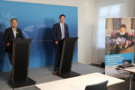 Michel Reckinger, président de la Fédération des artisans, et Lex Delles, ministre des Classes moyennes et du Tourisme, ont lancé officiellement la campagne «Smile again». (Photo: SIP)