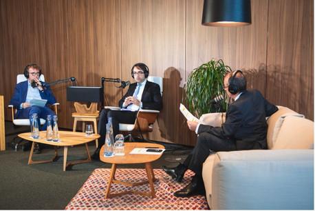 Laurent Schummer, Marc Mouton (Partners, Arendt & Medernach) et Jim Kent (Maison Moderne). (Photo: Marc Blasius/Maison Moderne)