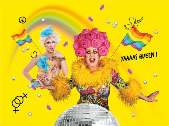 La jeune génération et la culture drag-queen font revivre petit à petit les sorties «queer» de Luxembourg (Design: Eva Pontini / Maison Moderne)