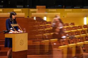 Mme Kovesi a rappelé le devoir d'indépendance du nouvel organe judiciaire de l'UE. ((Photo: CJUE))