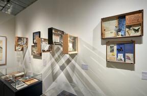 RobertBrandy réalise également des assemblages, qu'il consigne dans des boîtes vitrées. ((Photo: TomLucas))