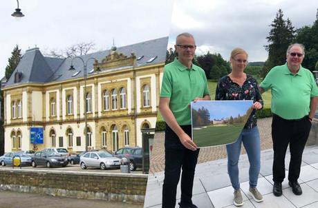 Roby Schintgen (à droite) a fait la meilleure offre pour acquérir le très bel Hôtel des Chemins de Fer à Arlon. (Photo: La Meuse Luxembourg/Maison Moderne)