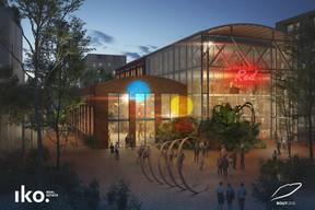 La Halle des Turbines sera dédiée aux activités artistiques. ((Illustration :Reichen et Robert & Associés))