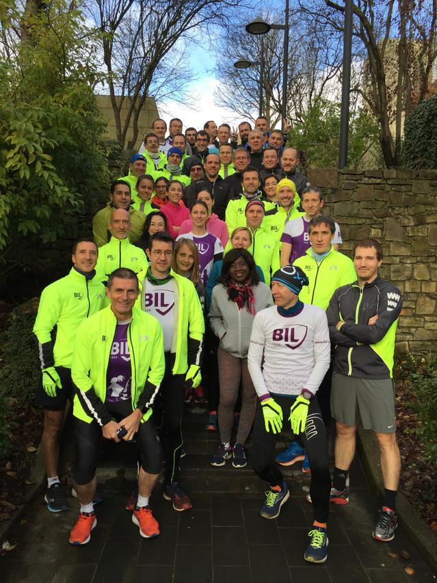 Le noyau dur de la team «BIL Runners» prêt pour l'entraînement. (Photo: BIL)