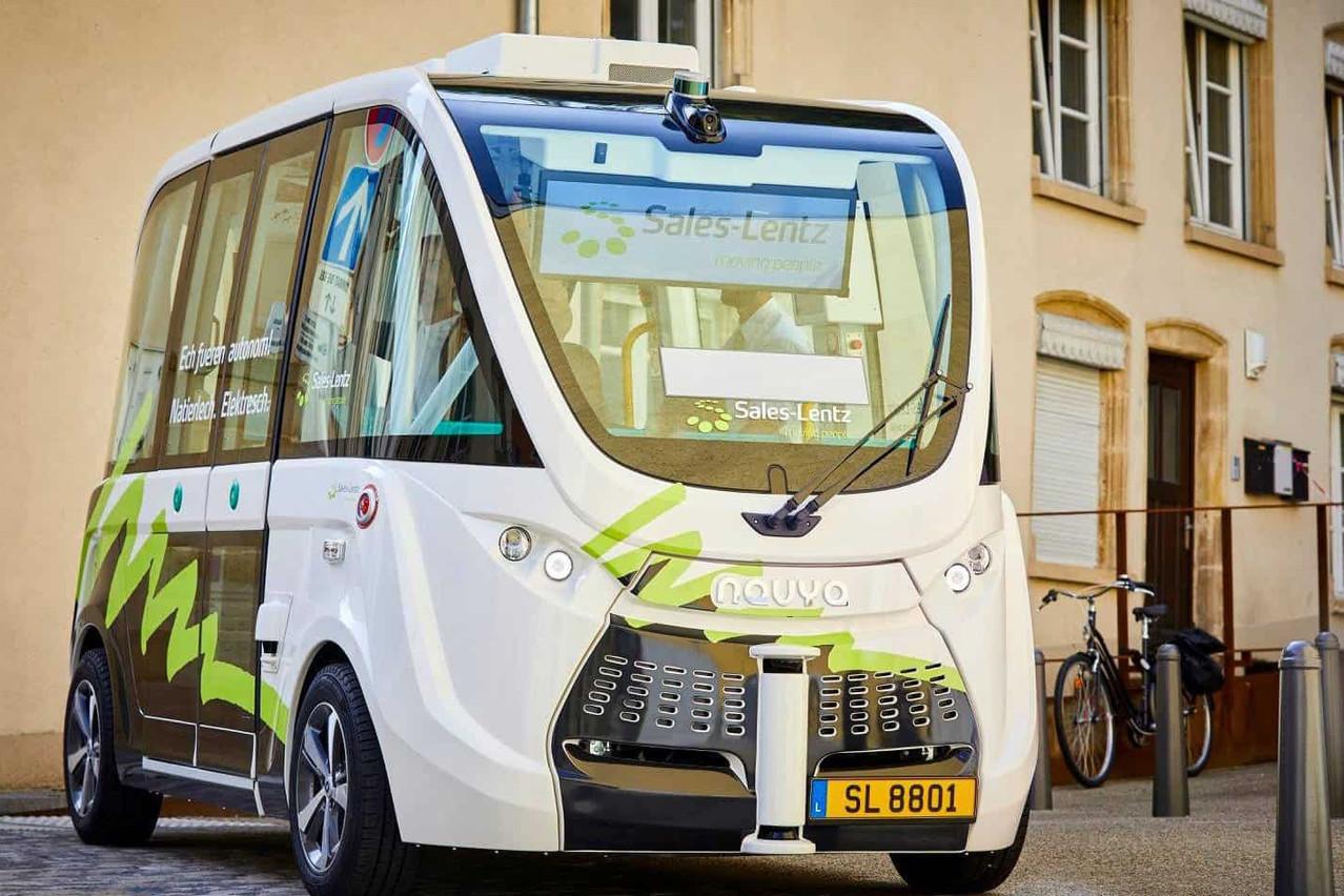 La navette autonome de Navya développée pour Sales-Lentz sera en mode 5, sans conducteur derrière le volant. (Photo:  Navya )