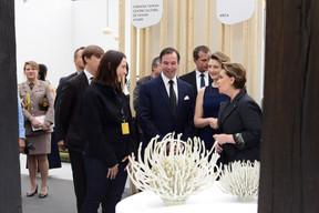 S.A.R. le Grand-Duc héritier Guillaume, S.A.R. la Grande-Duchesse héritière Stéphanie et S.A.R. la Grande-Duchesse Maria Teresa. ((Photo:Antoine Seiter))