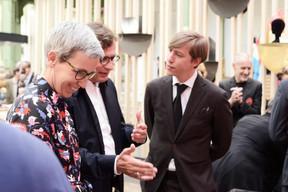 Sam Tanson (ministre de la Culture), Claude Schmitz et S.A.R. le Prince Louis. ((Photo:Antoine Seiter))