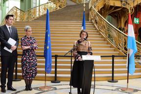 Lex Delles (ministre du Tourisme), Sam Tanson (ministre de la Culture) et Aude Tahon (présidente d'Ateliers d'Art de France). ((Photo:Antoine Seiter))