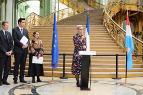 S.A.R. le Grand-Duc Henri, Lex Delles (ministre du Tourisme), Aude Tahon (présidente d'Ateliers d'Art de France) et Sam Tanson (ministre de la Culture). ((Photo:Antoine Seiter))