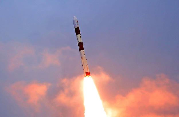 Les quatre satellites de Kleos ont été lancés depuis le centre spatial Satish Dhawan et ont été déployés à 575km de la Terre. (Photo: ISRO)