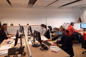 120 personnes travaillent pour la cellule de traçage, dans les anciens locaux de Ferrero au Findel. (Photo:AnneVergison)