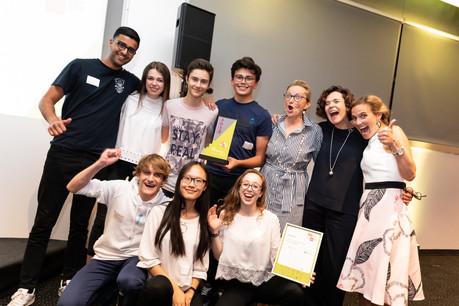 La mini-entreprise Say It du Lycée Aline Mayrisch est spécialisée dans la production de vidéos promotionnelles pour les entreprises. (Photo: Jonk Entrepreneuren Luxembourg)