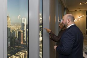 Sultan Bin Saeed Al Mansoori, ministre de l'Économie des Émirats arabes unis, et Étienne Schneider. ((Photo: SIP / Jean-Christophe Verhaegen))