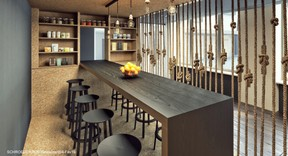 Vue du restaurant. ((Illustration: Architecture & Urbanisme 21))