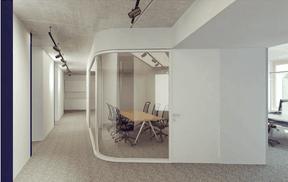 Vue du couloir. ((Illustration: Architecture & Urbanisme 21))