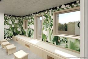 Vue de l'espace «lounge» zen. ((Illustration: Architecture & Urbanisme 21))