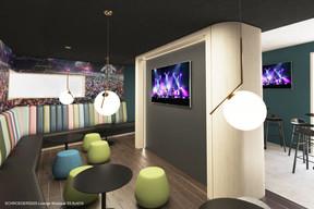 Vue de l'espace «lounge» musique. ((Illustration: Architecture & Urbanisme 21))