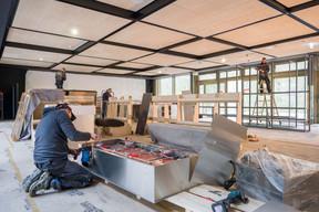 Vue de l'intérieur du bâtiment pendant le chantier d'aménagement. ((Photo: Raoul Somers))