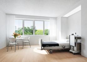 Schüco SmartActive - protection antimicrobienne longue durée pour les zones de bâtiments sensibles à l'hygiène   ©Schüco International KG