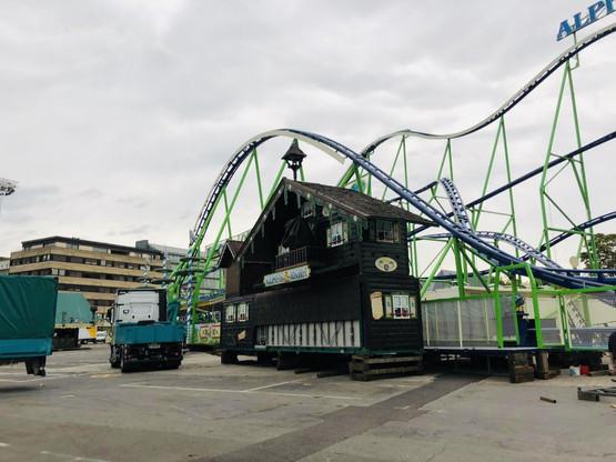 L'Alpina Bahn, pour la première fois présente à la Schueberfouer, a déjà pris ses quartiers sur le Glacis. (Photo: Ville de Luxembourg)