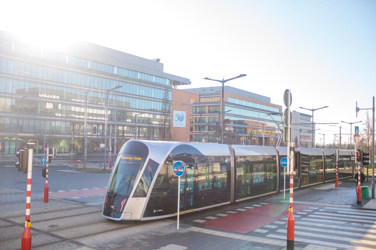 The idea of a double tram line in the north of Kirchberg is gaining ground. (Photo: Matic Zorman/Archives Maison Moderne)