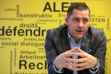 Le secrétaire de l'Aleba, LaurentMertz, dont le syndicat est le principal dans le secteur des banques et assurances. (Photo: Matic Zorman/Archives Maison Moderne)