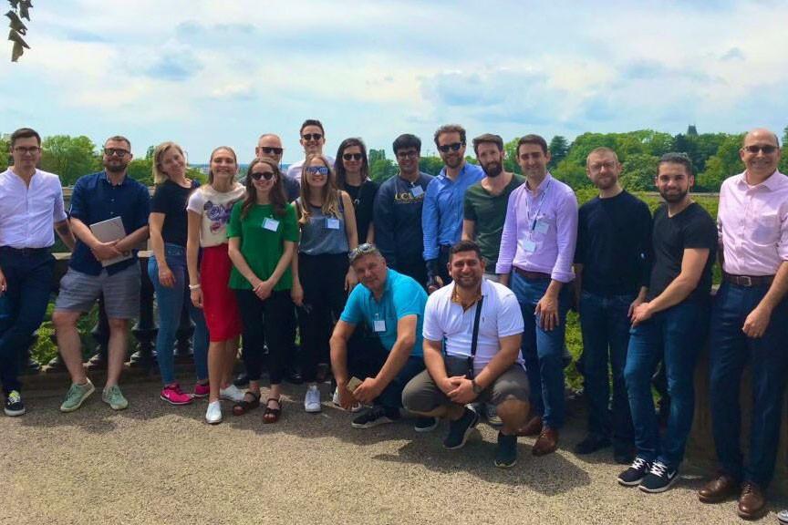 Les 20 semi-finalistes ont reçu les conseils pour un «pitch» réussi et ont pu découvrir les charmes de la capitale lors d'un tour concocté par les organisateurs des Fintech Awards, la Lhoft et KPMG. (Photo: Twitter/Lhoft)