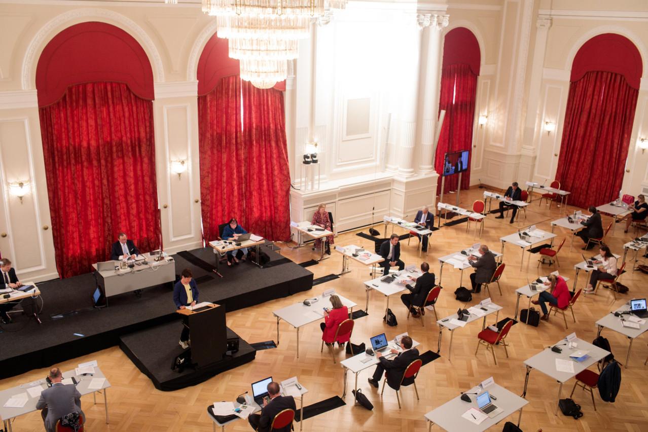 Le travail de la Chambre des députés, en plénière et en commissions, a été bousculé par la pandémie de Covid-19. (Photo: Matic Zorman /Maison Moderne/archives)