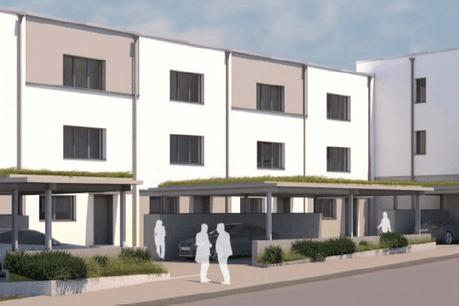 Le Fonds du logement est en train de faire construire sept nouvelles maisons à Remich. (Illustration: Beng Architectes Associés/Fonds du logement)