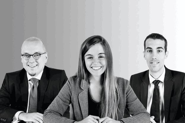 DanielRiedel, AudreyRisser et PolMellina sont promus counsels chez BSP. (Photo: BSP/Maison Moderne)