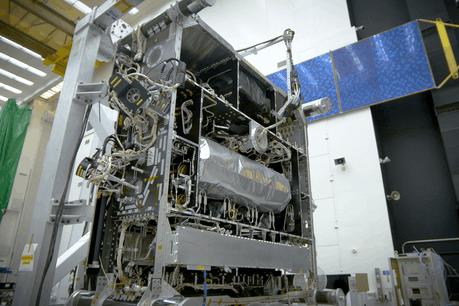 Le matériel du satelliteO3b mPower a été présenté en Californie le 17 août dernier. (Photo: Boeing)