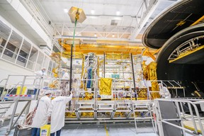 The satellite is covered with 380 square metres of thermal blanket. (Photo: Thales Alenia Space)
