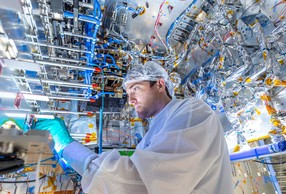 Nearly 2,000 people worked on the design and manufacture of the satellite, ordered in 2016. (Photo: Thales Alenia Space)
