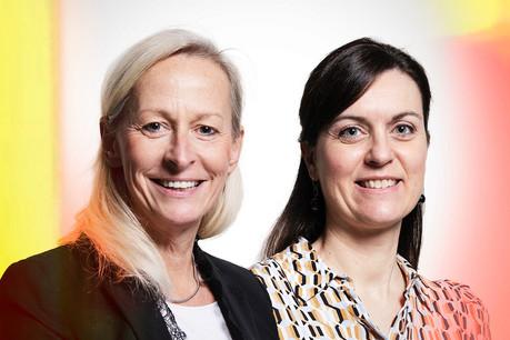 FlorenceBuron,Director Financial Industry Solutions, et Francesca Messini,Director Fintech & Sustainable Finance Leader chez Deloitte. (Photo: Maison Moderne)
